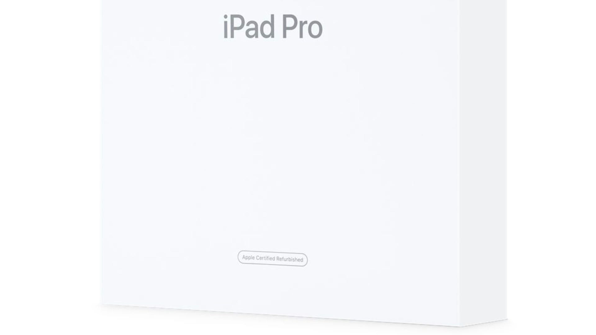 Apple refurbished iPad box