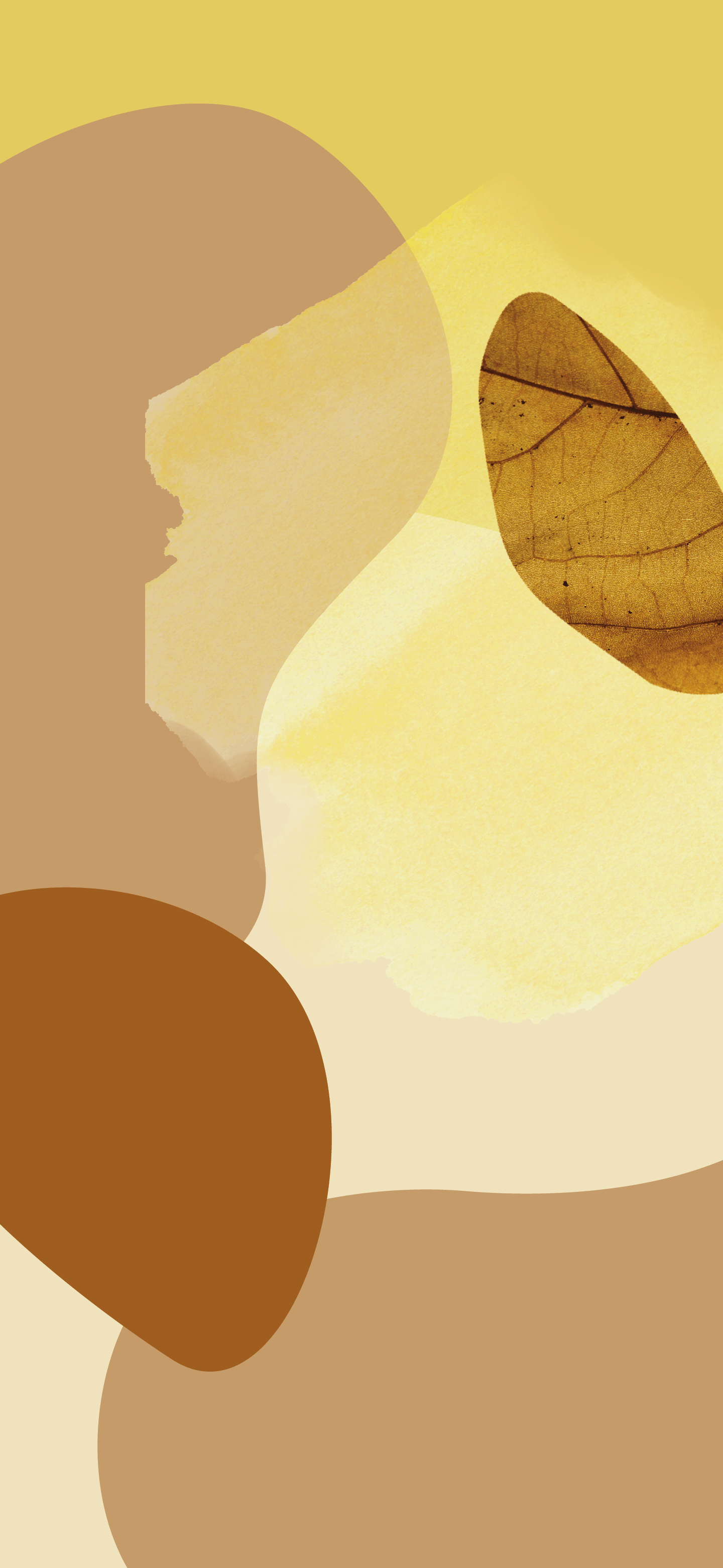 The yellow and brown Pixel 6 wallpaper.