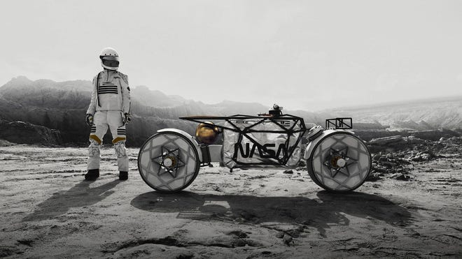 This Prototype Lunar Electric Motorcycle Wants to Help NASA on the Moon