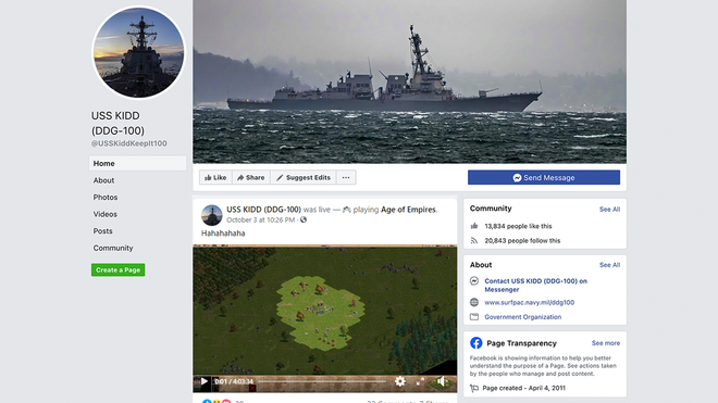 Hacker Steals a U.S. Navy Facebook Account to Livestream 'Age of Empires'