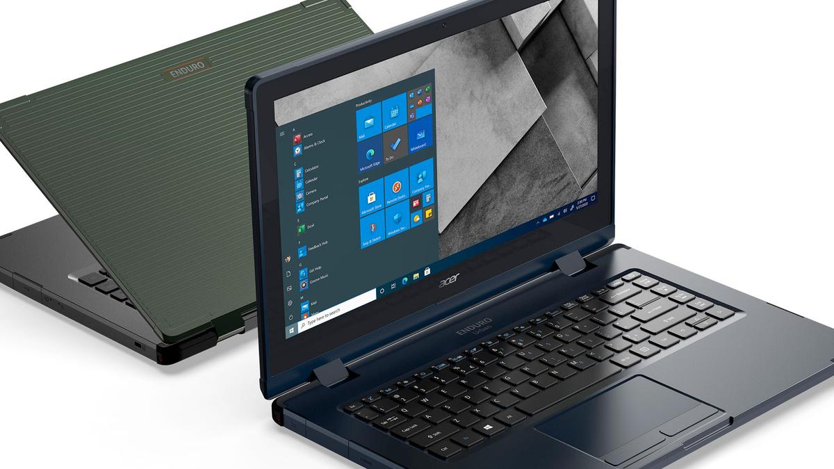 Acer ENDURO Urban N3 laptop running Windows 10.