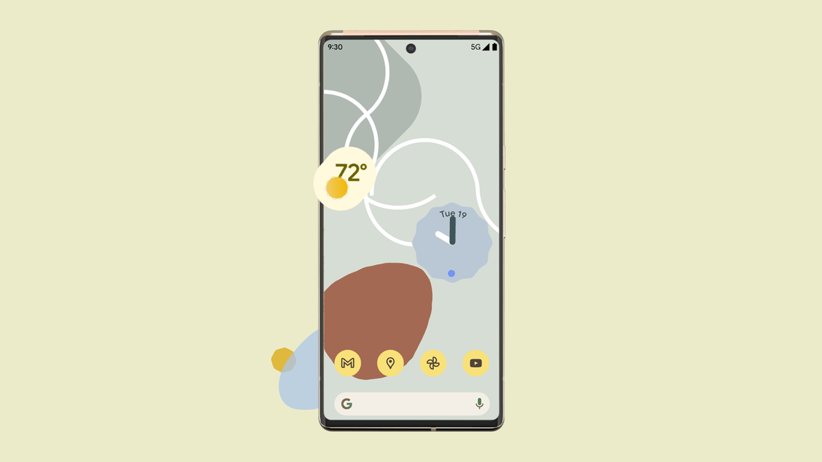An illustration of the Pixel 6