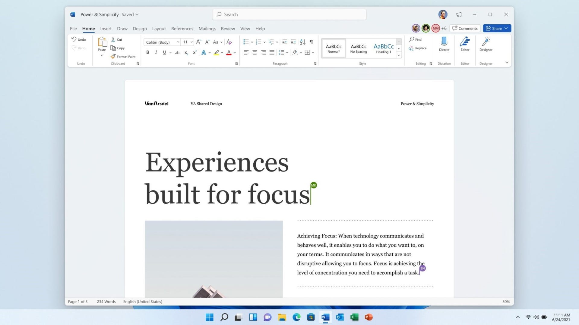 Microsoft Office 2021 features