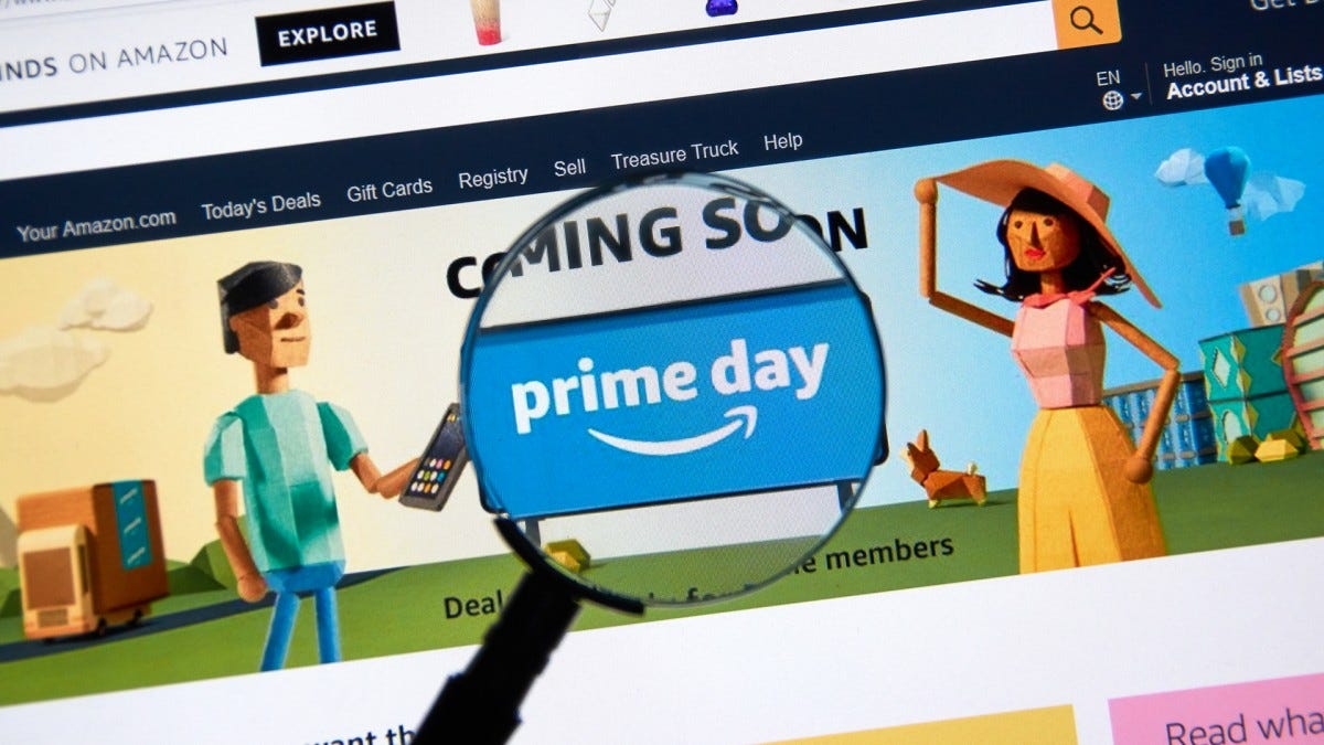 The Prime Day banner inspected under a magnifying glass.