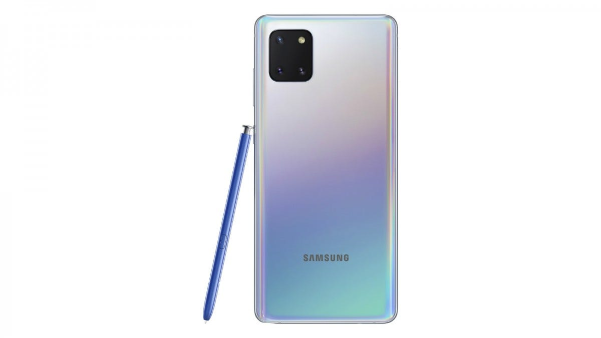 Samsung Galaxy Note 10 Lite from the back
