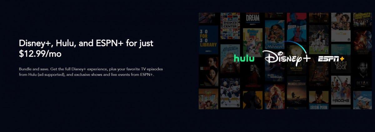 Disney+ w/ Hulu and ESPN+