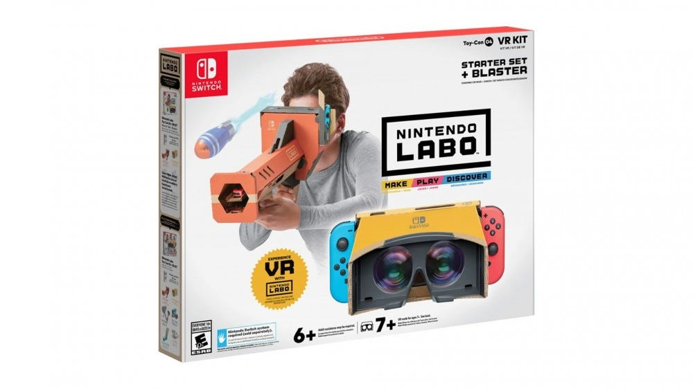 A photo of the Nintendo Labo VR set.