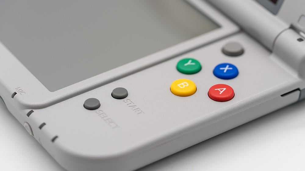A close-up of the New Nintendo 3DS.