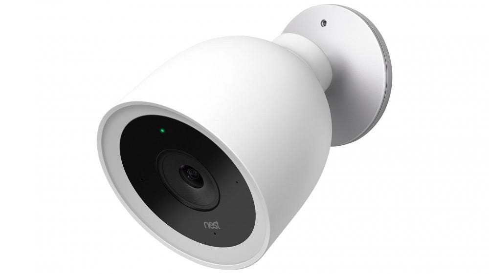A photo of the Nest Cam IQ Outdoor camera.