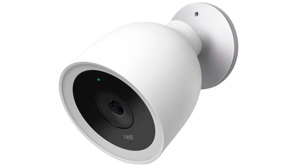 A photo of the Nest Cam IQ Outdoor camera.
