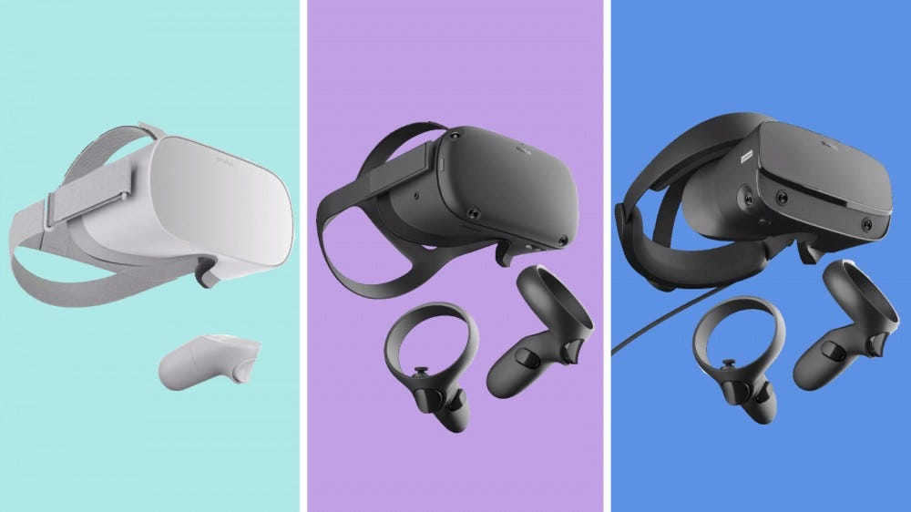 Oculus Go, Quest, and Rift S
