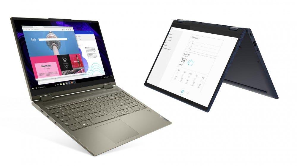 Lenovo Yoga 7i and Yoga 6