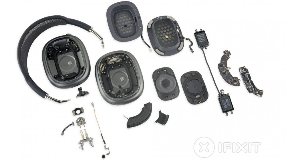 Airpods Max completely disassembled
