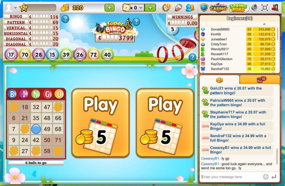 Game Point bingo online game