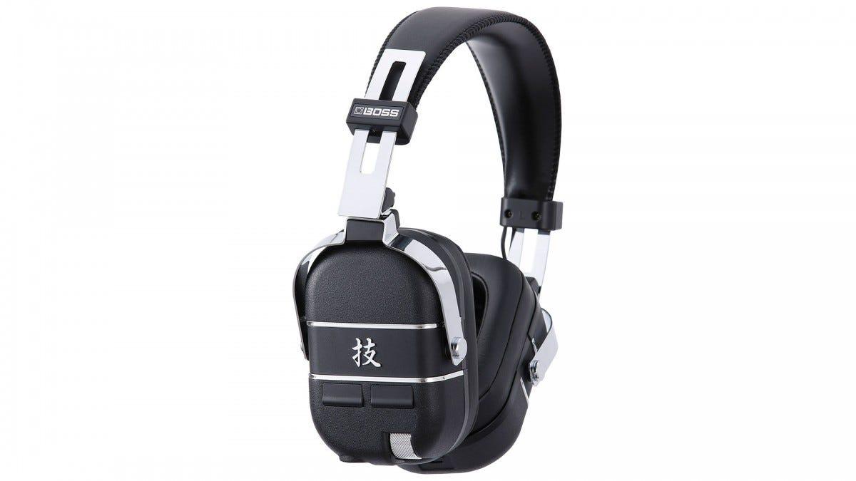 A photo of the Boss Waza Air headphones.