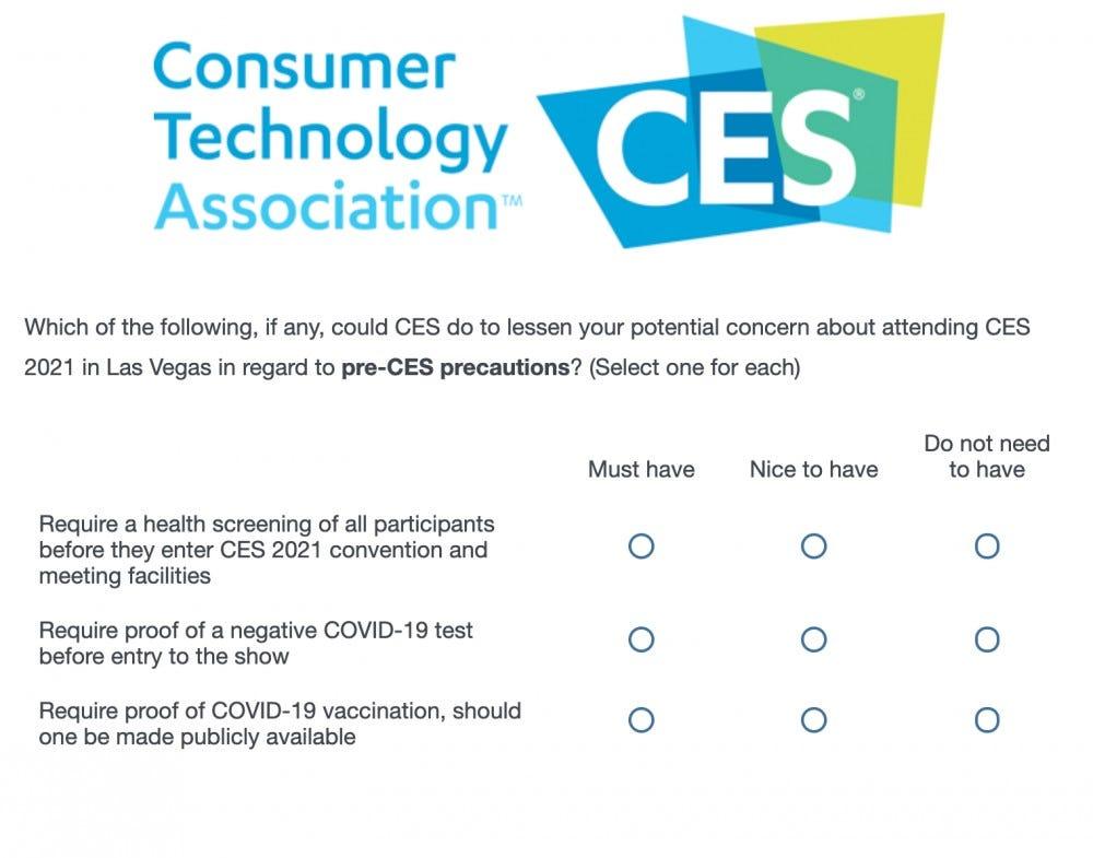 CTA survey screenshot
