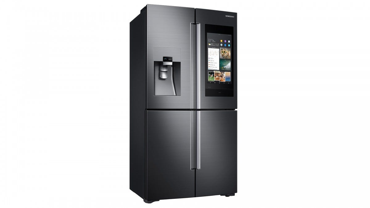 A photo of the Samsung Family Hub fridge.