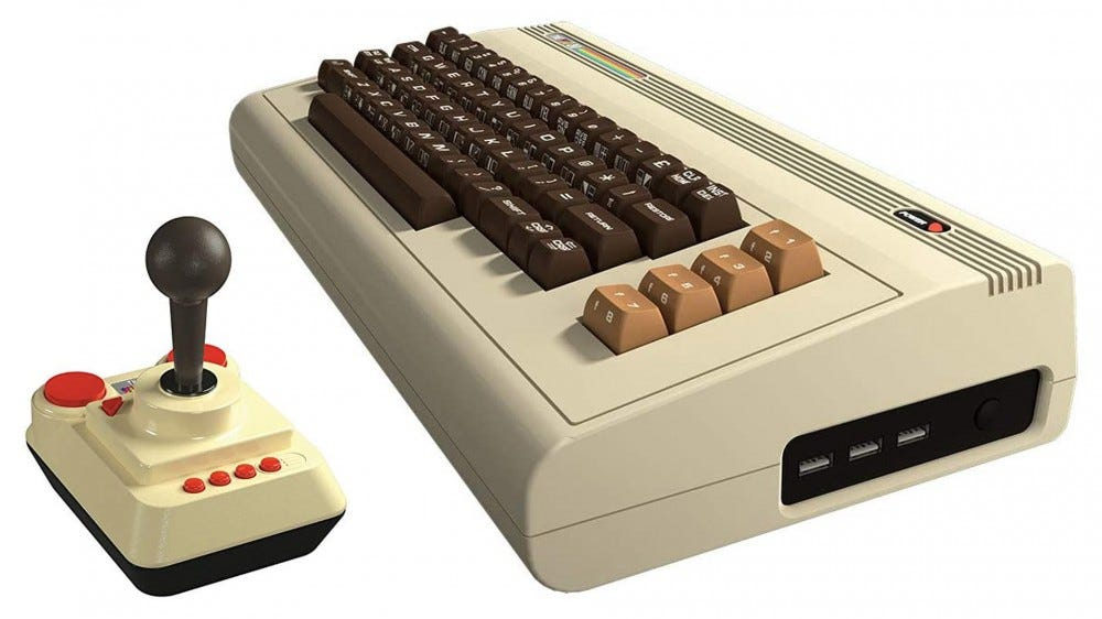The modern version of the VIC-20 computer, with joystick