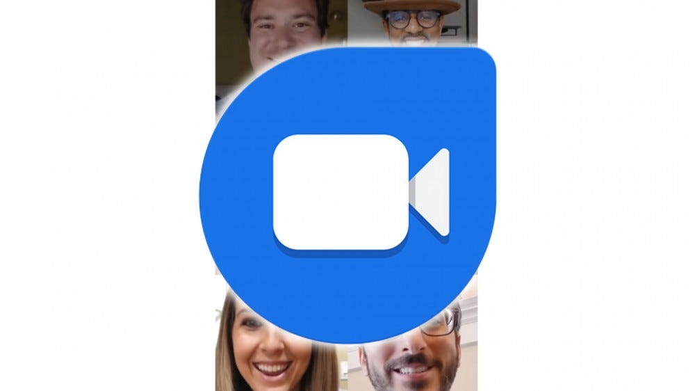 A photo of the Google Duo logo.