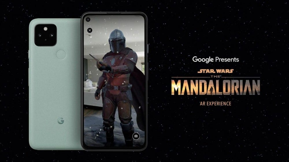 "Google and Lucasfilm's ""The Mandalorian AR Experience"" app"