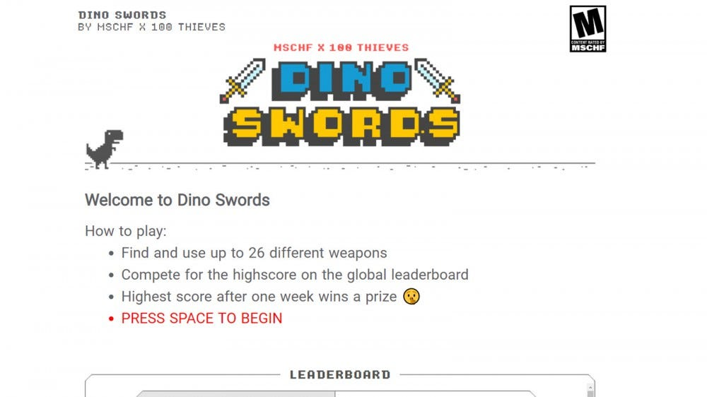 The 'Dino Swords' Loading Screen