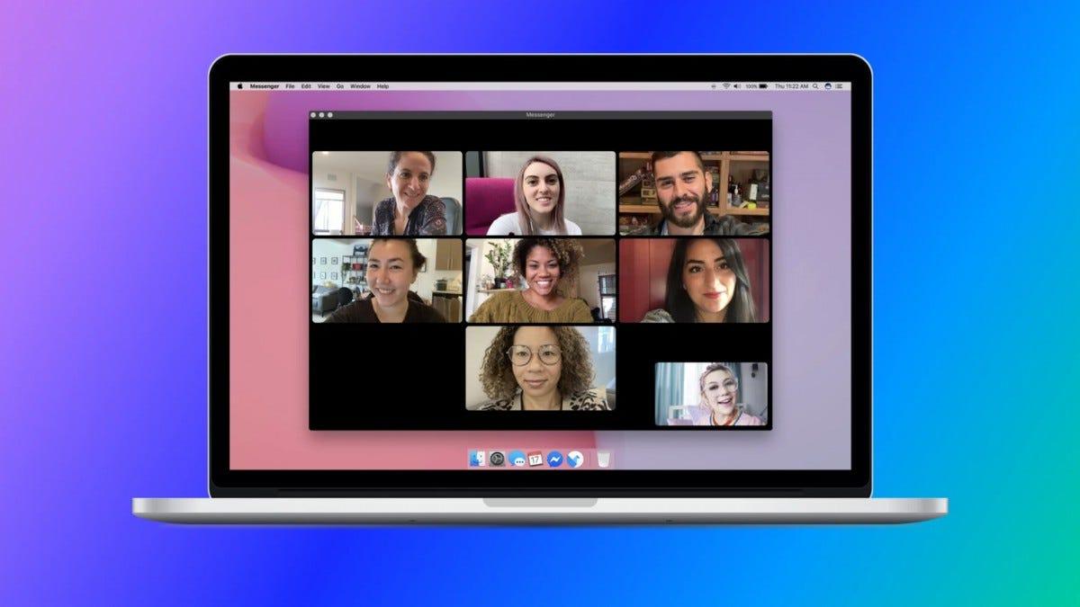 An illustration of Facebook Messenger's desktop app.