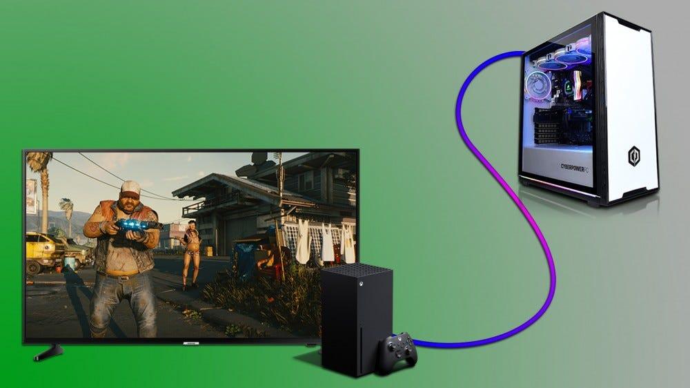 Gaming PC és Xbox Series X a Cyberpunk játékkal