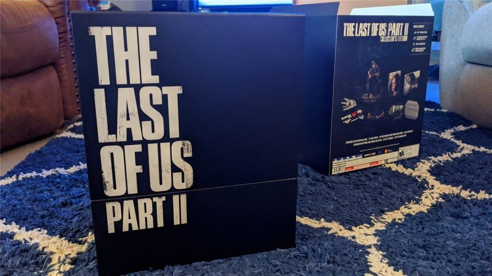 The box inside of The Last of Us Part II Collector's Edition Box