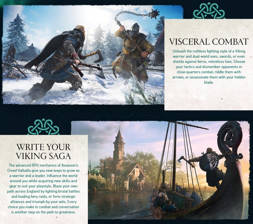 Assassin's Creed Valhalla promotional website
