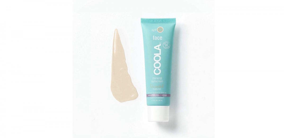 A tube of Coola Mineral Sunscreen Face Matte Moisturizer.