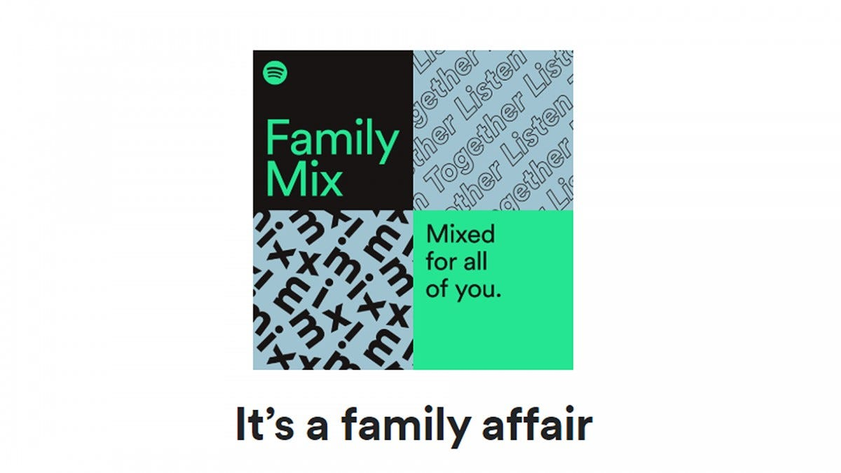 An illustration of a Spotify Family Playlist.