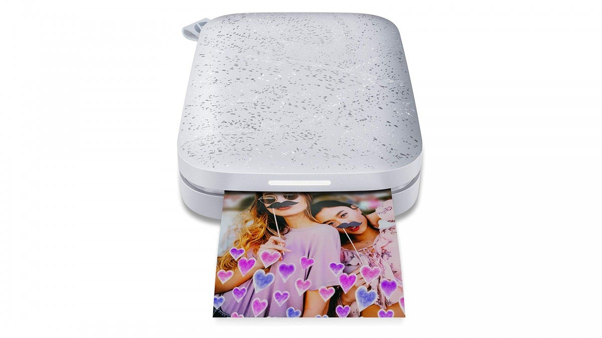 The HP Sprocket portable printer.