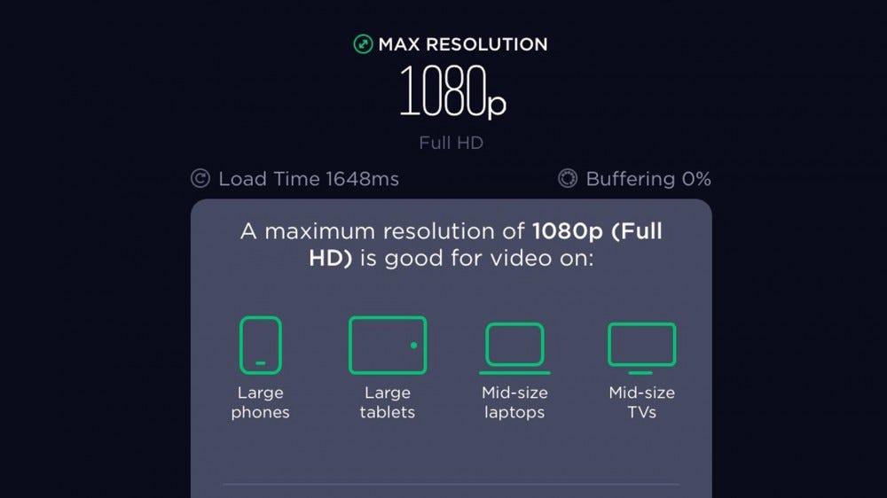 Speedtest video test result