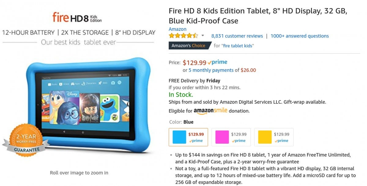 Outstanding Buying An Amazon Fire Tablet Buy The Kids Edition Even If Best Image Libraries Counlowcountryjoecom