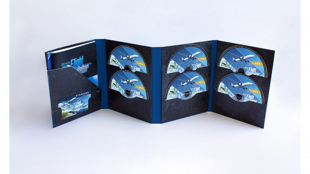 Microsoft Flight Simulator 10 DVD physical set release via Aerosoft