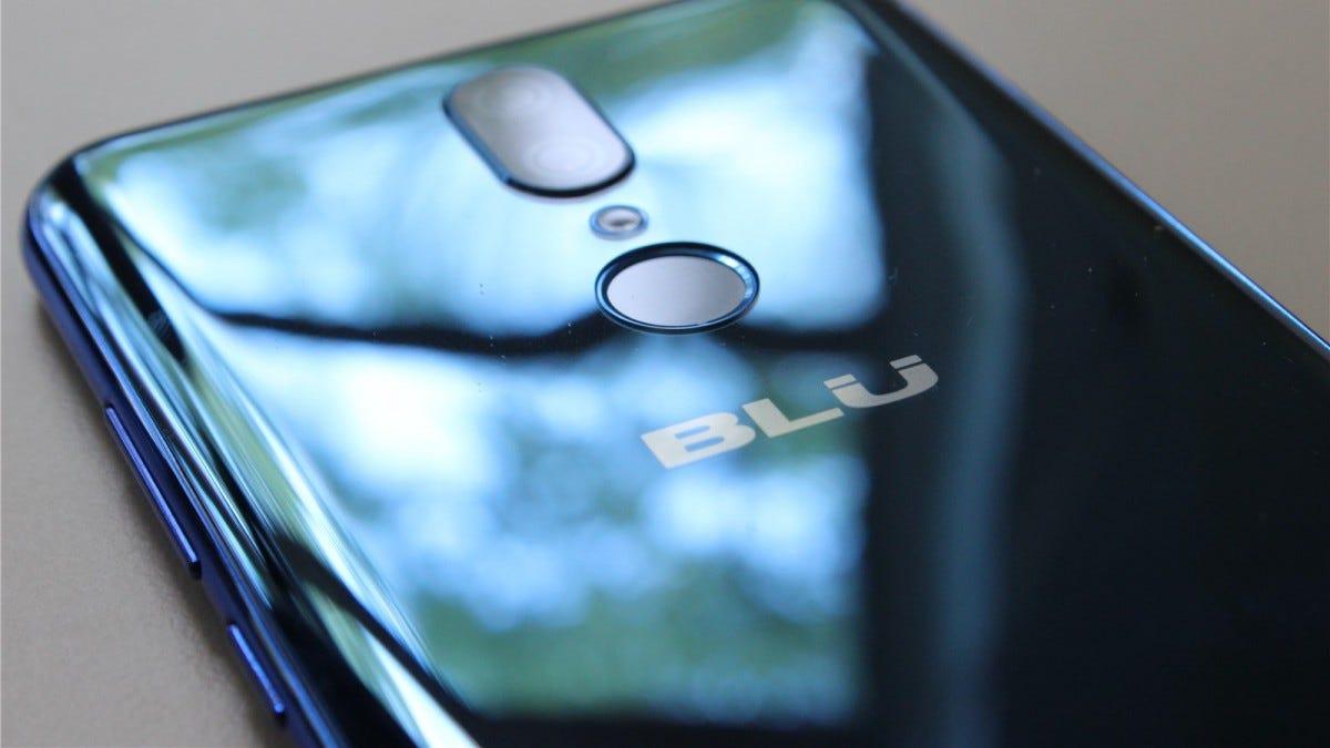 The Blu G9's fingerprint reader