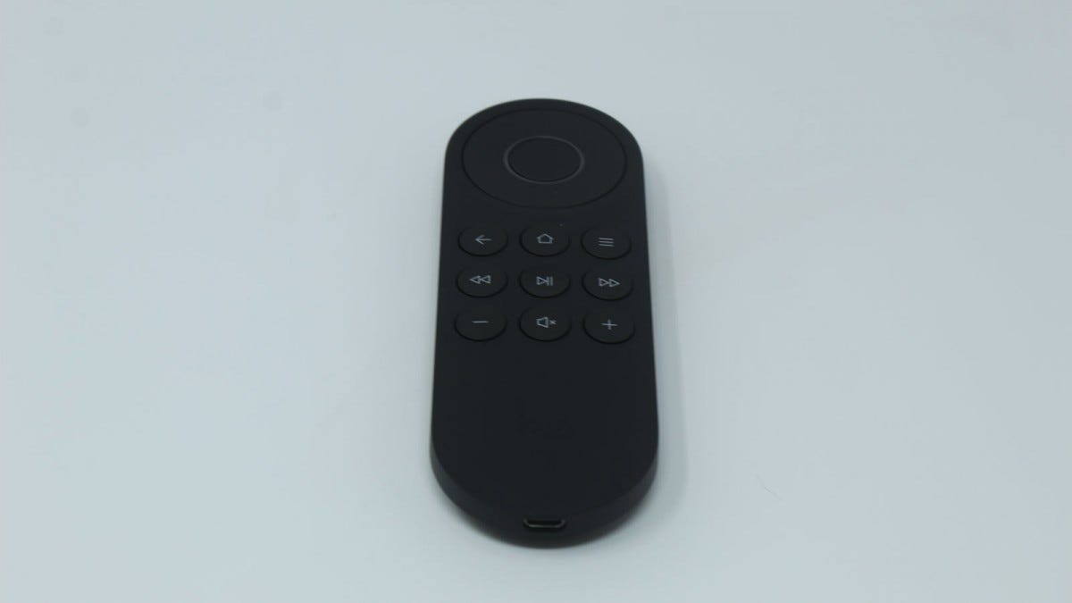 The Harmony Express remote, showing the various buttons.