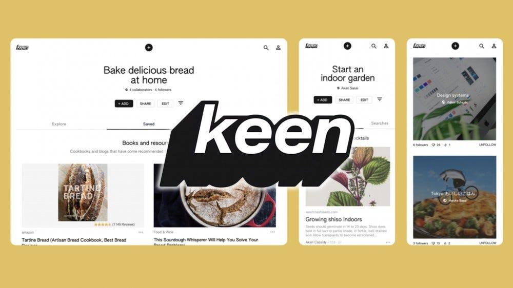 A screenshot of Keen with the Keen logo.