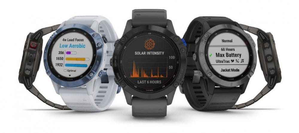 garmin fenix 6 pro solar screen options