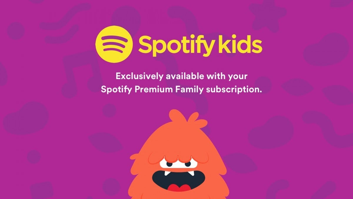 An illustration of the Spotify Kids app.