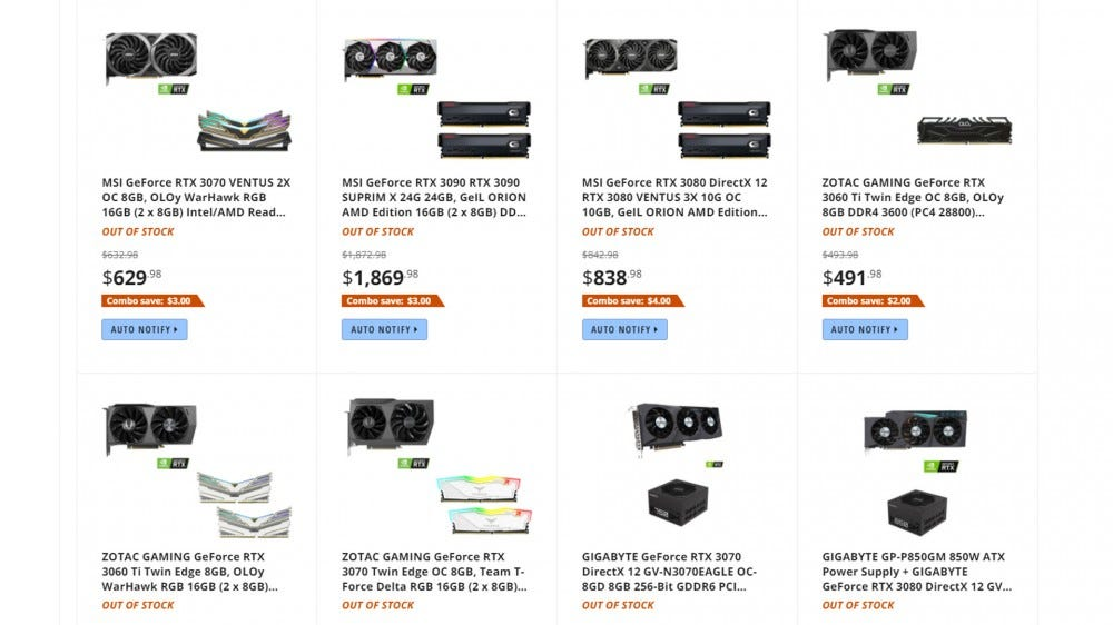 Newegg combo deals