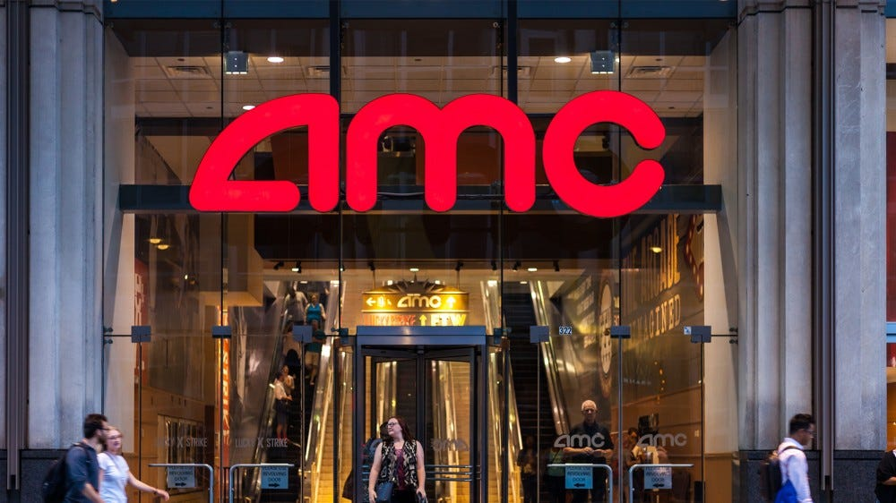 A photo of an AMC theater entrance.