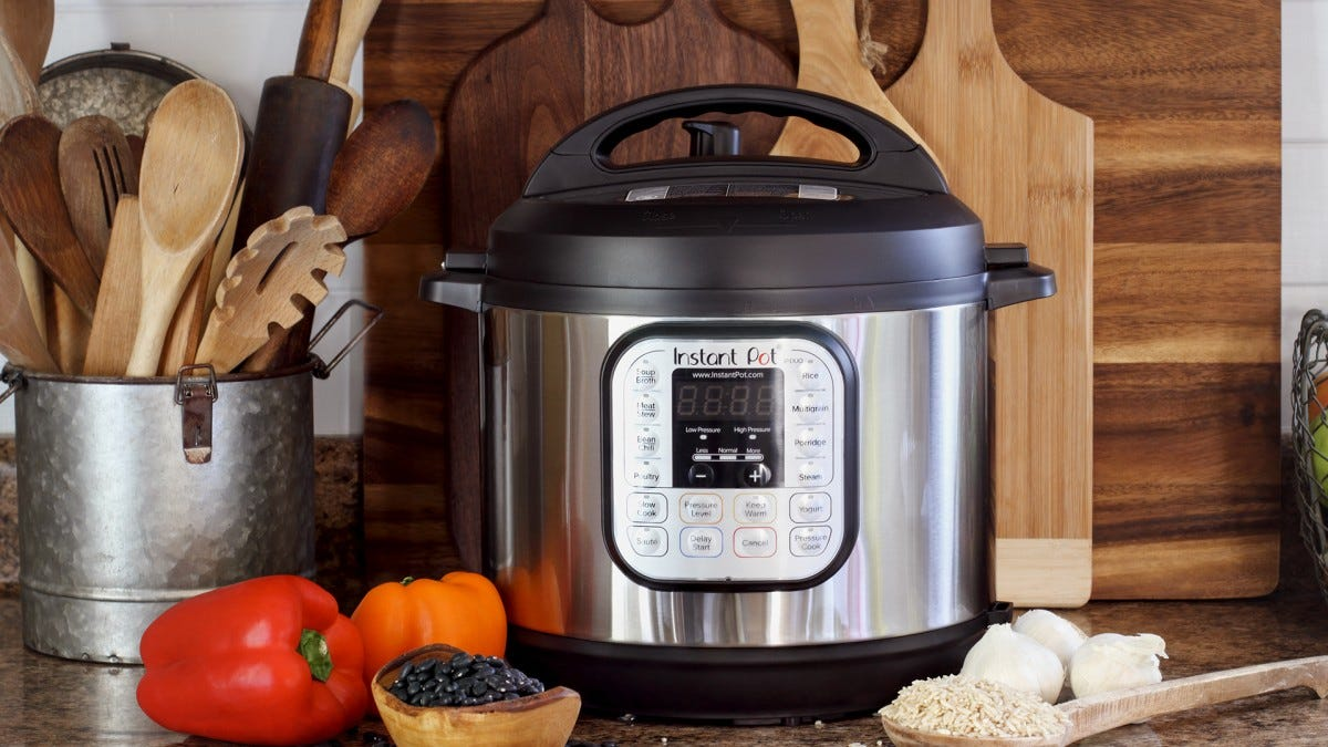 An Instant Pot on a countertop.