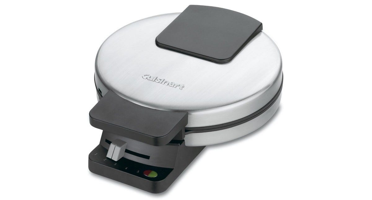 The Cuisinart WMR-CA Round Classic Waffle Maker.