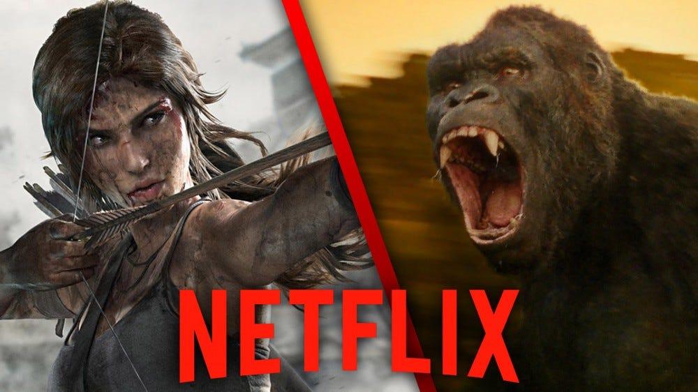Lara Croft and King Kong, Netflix logo