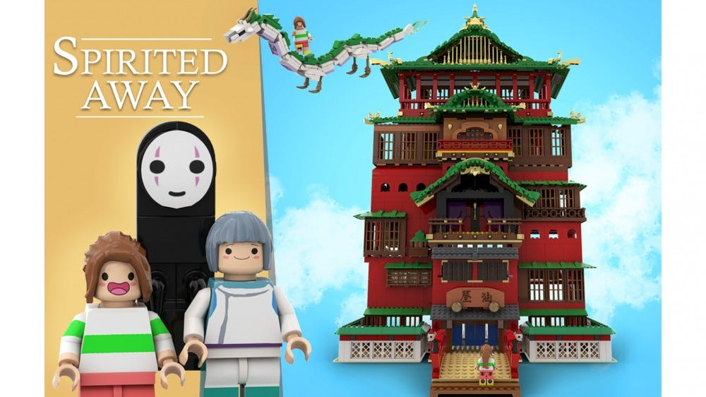 "LEGO Ideas for Studio Ghibli's ""Spirited Away"""