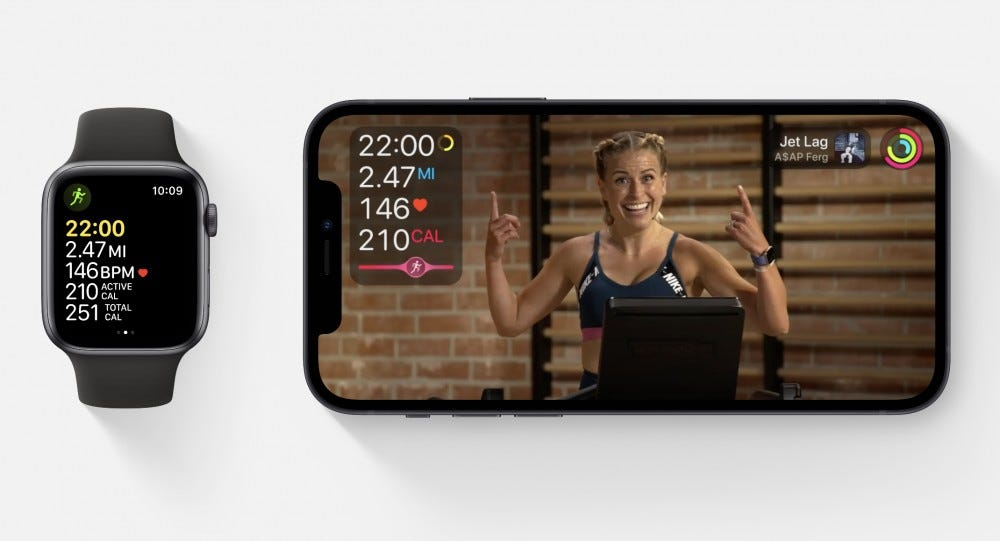 apple watch and iphone fitness+