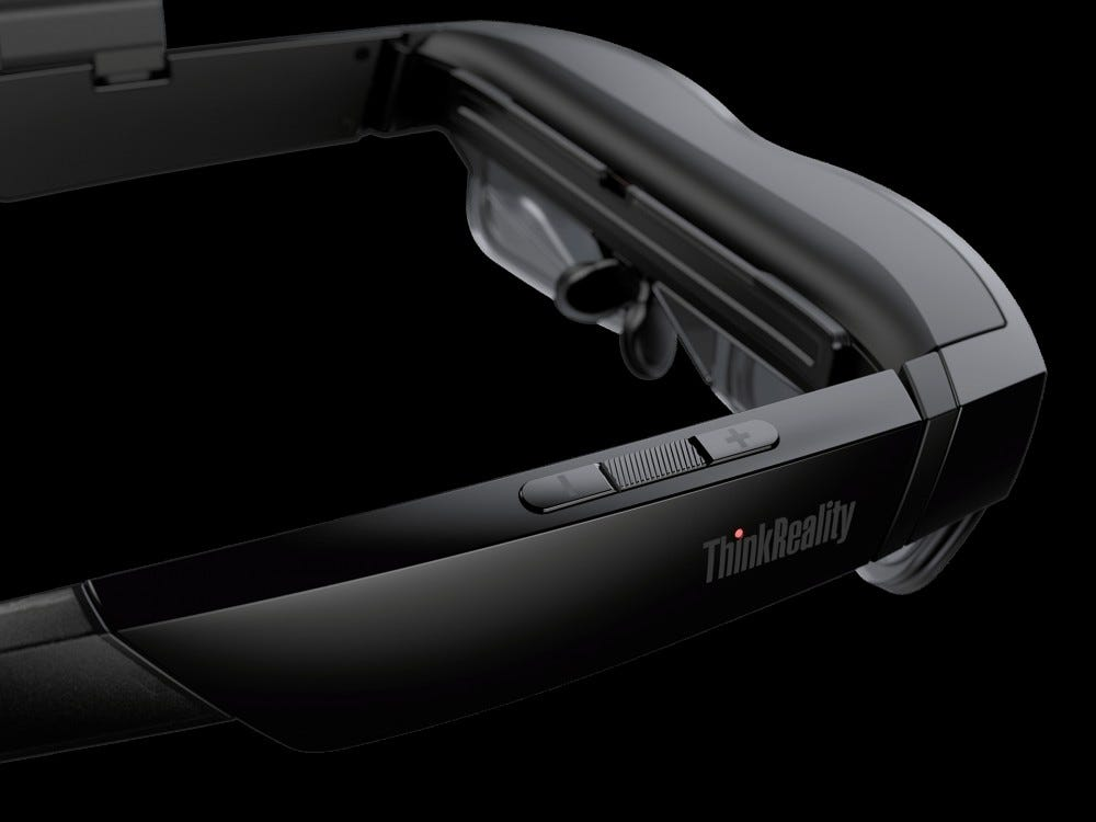 ThinkReality A3 AR headset, back