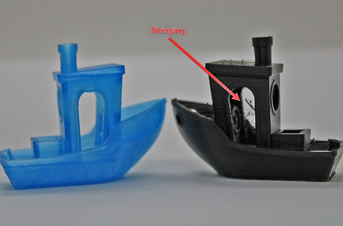benchy showing stringing