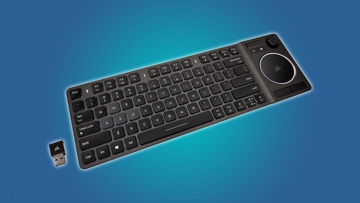 Corsair's K83 includes a touchpad and a few controller layout features.